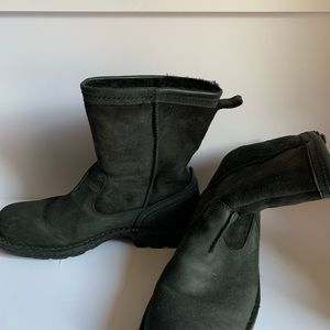 Pre -owned Men's UGG leather black Boots